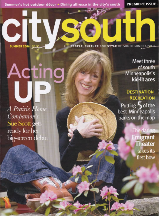 Cover Girl Sue Scott, actor, voice talent!